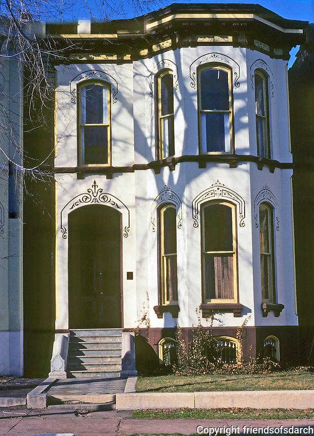 St. Louis: House, Kennett Place. Near Lafayette Park. Photo '77.