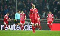 25.11.2017, Football 1. Bundesliga 2017/2018, 13.  match day, Borussia Moenchengladbach - FC Bayern Muenchen, Borussia-Park Moenchengladbach. Robert Lewandowski (Bayern Muenchen) dejected  *** Local Caption *** © pixathlon<br /> <br /> +++ NED + SUI out !!! +++<br /> Contact: +49-40-22 63 02 60 , info@pixathlon.de