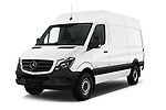 2017 Mercedes Benz Sprinter Base 4 Door Cargo Van angular front stock photos of front three quarter view
