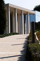 The modern office building. Winery building. Raimat Costers del Segre Catalonia Spain
