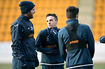 St Johnstone Training…12.12.17<br />Stefan Scougall, Brian Easton and Scott Tanser having fun during training this morning at McDiarmid Park ahead of tomorrow's game against Aberdeen<br />Picture by Graeme Hart.<br />Copyright Perthshire Picture Agency<br />Tel: 01738 623350  Mobile: 07990 594431