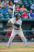 Devon Travis (6) of the West Michigan Whitecaps at bat against the Great Lakes Loons at the Dow Diamond on June 11, 2013 in Midland, Michigan.  The Loons defeated the Whitecaps 13-6.  (Brian Westerholt/Four Seam Images)