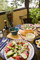 Lunch With The Herbalist, Organic salad, fresh bread, dill butter; Tammi Hartung recipe at Desert Canyon Farm