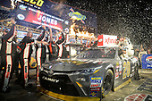 NASCAR XFINITY Series<br /> O'Reilly Auto Parts 300<br /> Texas Motor Speedway<br /> Fort Worth, TX USA<br /> Saturday 4 November 2017<br /> Erik Jones, GameStop Call of Duty WWII Toyota Camry, celebrates after winning.<br /> World Copyright: John K Harrelson<br /> LAT Images