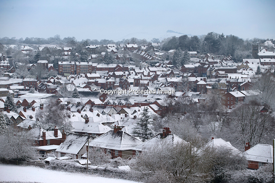 17/01/16<br /> <br /> Snow covers the town of Ashbourne after overnight snowfall in Derbyshire.<br /> <br /> All Rights Reserved: F Stop Press Ltd. +44(0)1335 418365   +44 (0)7765 242650 www.fstoppress.com