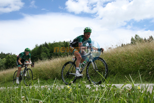 Thomas Voeckler (FRA) Team Europcar in action during Stage 12 of the 99th edition of the Tour de France 2012, running 148km from Saint-Jean-de-Maurienne to Annonay-Davezieux, France. 13th July 2012.<br /> (Photo by Thomas van Bracht/NEWSFILE)