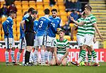St Johnstone v Celtic…03.02.19…   McDiarmid Park    SPFL<br />Kris Ajer is sent off<br />Picture by Graeme Hart. <br />Copyright Perthshire Picture Agency<br />Tel: 01738 623350  Mobile: 07990 594431