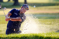 3rd July 2021, Detroit, MI, USA;  Phil Mickelson hits out of a sand trap on the third hole on July 3, 2021 during the Rocket Mortgage Classic at the Detroit Golf Club in Detroit, Michigan.