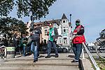 19.09.2020, wohninvest Weserstadion, Bremen, GER,  SV Werder Bremen vs Hertha BSC Berlin, <br /> <br /> <br />  im Bild<br /> <br /> Fans kommen zum Stadion Kontrolle <br /> <br /> Foto © nordphoto / Kokenge<br /> <br /> DFL regulations prohibit any use of photographs as image sequences and/or quasi-video.