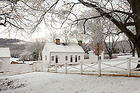 The historic Ashlawn home of President William Monroe in Albemarle County, VA.