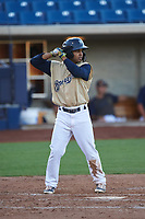 AZL Brewers Gold Felix Valerio (25) at bat during an Arizona League game against the AZL Brewers Blue on July 13, 2019 at American Family Fields of Phoenix in Phoenix, Arizona. The AZL Brewers Blue defeated the AZL Brewers Gold 6-0. (Zachary Lucy/Four Seam Images)