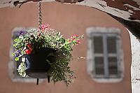 Europe/France/Rhône-Alpes/74/Haute-Savoie/Annecy:  Pot de fleur au Passage de l'Ile