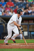 Akron RubberDucks designated hitter Mike Papi (38) at bat during a game against the Richmond Flying Squirrels on July 26, 2016 at Canal Park in Akron, Ohio .  Richmond defeated Akron 10-4.  (Mike Janes/Four Seam Images)