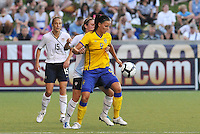 Jessica Landstrom...USWNT tied Sweden 1-1 at Morrison Stadium, Omaha Nebraska.