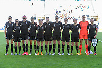 20200310 Faro , Portugal : team New Zealand ( New Zealand goalkeeper Erin Nayler (1) , New Zealand midfielder Ria Percival (2) , New Zealand defender Catherine Joan ' CJ ' Bott (4) , New Zealand defender Meikayla Moore (5) , New Zealand defender Rebekah Stott (6) , New Zealand defender Ali Riley (7) , New Zealand midfielder Betsy Hassett (12) , New Zealand midfielder Katie Bowen (14) , New Zealand forward Hannah Wilkinson (17) , New Zealand midfielder Olivia Chance (22) , New Zealand defender Claudia Bunge (24) ) pictured before the female football game between the national teams of New Zealand and Norway on the third matchday of the Algarve Cup 2020 , a prestigious friendly womensoccer tournament in Portugal , on Tuesday 10 th March 2020 in Faro , Portugal . PHOTO SPORTPIX.BE | STIJN AUDOOREN