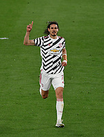 Football: Uefa Europa League - semifinal 2nd leg AS Roma vs Manchester United Olympic Stadium. Rome, Italy, May 6, 2021.<br /> Manchester United's Edinson Cavani celebrates after scoring during the Europa League football match between Roma and Manchester United at Rome's Olympic stadium, Rome, on May 6, 2021.  <br /> UPDATE IMAGES PRESS/Isabella Bonotto