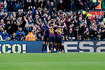 FC Barcelona's players celebrate goal during La Liga match between FC Barcelona and Real Madrid at Camp Nou Stadium in Barcelona, Spain. October 28, 2018. (ALTERPHOTOS/A. Perez Meca)