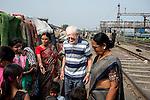 Father Laborde interacts with the slum dwellers during his visit to Tikiapara slum area in Howrah. West Bengal, India, Arindam Mukherjee/Agency Genesis