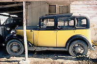 The King Ford and the Packard in the courtyard of the Afghan Kabul National museum in December 1982