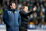 St Johnstone v Celtic…..01.03.20   McDiarmid Park   Scottish Cup Quarter Final<br />Celtic manager Neil Lennon gestures to his players<br />Picture by Graeme Hart.<br />Copyright Perthshire Picture Agency<br />Tel: 01738 623350  Mobile: 07990 594431