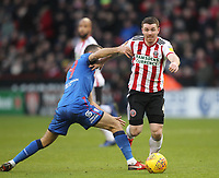 Bolton Wanderers Gary O'Neil battles with  Sheffield United's John Fleck<br /> <br /> Photographer Mick Walker/CameraSport<br /> <br /> The EFL Sky Bet Championship - Sheffield United v Bolton Wanderers - Saturday 2nd February 2019 - Bramall Lane - Sheffield<br /> <br /> World Copyright © 2019 CameraSport. All rights reserved. 43 Linden Ave. Countesthorpe. Leicester. England. LE8 5PG - Tel: +44 (0) 116 277 4147 - admin@camerasport.com - www.camerasport.com