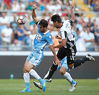 Calcio, Serie A: Lazio vs Juventus. Roma, stadio Olimpico, 27 agosto 2016.<br /> Lazio's Marco Parolo, left, and Juventus' Sami Khedira fight for the ball during the Serie A soccer match between Lazio and Juventus, at Rome's Olympic stadium, 27 August 2016. Juventus won 1-0.<br /> UPDATE IMAGES PRESS/Isabella Bonotto