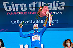 Geoffrey Bouchard (FRA) AG2R Citroen Team retains the mountains Maglia Azzurra at the end of Stage 20 of the 2021 Giro d'Italia, running 164km from Verbania to Valle Spluga-Alpe Motta, Italy. 29th May 2021.  <br /> Picture: LaPresse/Gian Mattia D'Alberto   Cyclefile<br /> <br /> All photos usage must carry mandatory copyright credit (© Cyclefile   LaPresse/Gian Mattia D'Alberto)