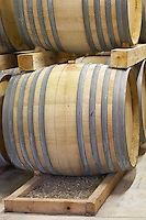 Chateau des Erles. In Villeneuve-les-Corbieres. Fitou. Languedoc. Barrel cellar. France. Europe.