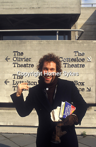 Simon Callow at the National Theatre South Bank London 1970s. UK