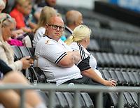 11th September 2021; Swansea.com Stadium, Swansea, Wales; EFL Championship football, Swansea versus Hull City; Swansea City fans enjoy the atmosphere before kick off