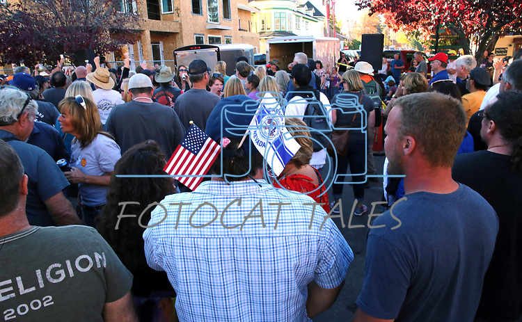 Music fans party at the annual Telegraph Square street party during the Nevada Day celebration in Carson City, Nev., on Saturday, October 28, 2017.<br /> Photo by Lance Iversen/Nevada Momentum