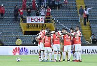 BOGOT� - COLOMBIA, 28-07-2018: Independiente Santa Fe y Atlético Nacional en partido por la fecha 2 de la Liga �guila II 2018 jugado en el estadio Nemesio Camacho El Campin de la ciudad de Bogotá. / Independiente Santa Fe and Atletico Nacional in match for the date 2 of the Aguila League II 2018 played at the Nemesio Camacho El Campin Stadium in Bogota city. Photo: VizzorImage/ Gabriel Aponte / Staff