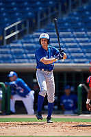 Toronto Blue Jays Addison Barger (19) at bat during an Instructional League game against the Philadelphia Phillies on September 17, 2019 at Spectrum Field in Clearwater, Florida.  (Mike Janes/Four Seam Images)