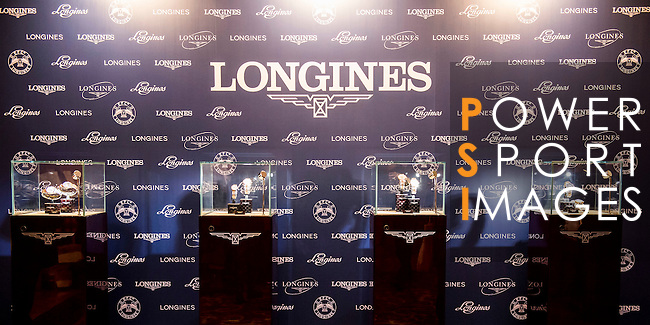Christophe Ameeuw, Juan Carlos Capelli, Winfried Engelbrecht- Bresges, Michael Lee and Raena Leung attends the press conference during the Longines HK Masters 2015 at the JW Marriott hotel on 13 January 2015 in Hong Kong, China. Photo by Aitor Alcalde / Power Sport Images