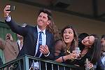 HALLANDALE BEACH, FL - JANUARY 28:  Polo player Nic Roldan takes a selfie with friends before the start of the 12,000,000 Pegasus World Cup Invitational G1 Stakes  on Pegasus World Cup Invitational Day at Gulfstream Park on January 28, 2017 in Hallandale Beach, Florida. (Photo by Liz Lamont/Eclipse Sportswire/Getty Images)