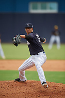FCL Yankees pitcher Alfred Vega (56) during a game against the FCL Phillies on July 6, 2021 at the Yankees Minor League Complex in Tampa, Florida.  (Mike Janes/Four Seam Images)