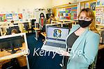 Iseult Glynn, Principal of Coláiste Na Ríochta in the Computer Science room in the school.