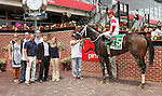May 16, 2015: Sandbar with Joel Rosario win the 29th running of the Grade III Maryland Sprint Hcp, for 3-year olds & up, going 6 furlongs, at Pimlico Racetrack. Trainer: Joe Sharp. Owner: Kenneth & Sarah Ramsey. Sue Kawczynski/ESW/CSM