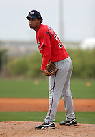 Washington Nationals minor leaguer Jhonny Nunez during Spring Training at the Carl Barger Training Complex on March 20, 2007 in Melbourne, Florida.  (Mike Janes/Four Seam Images)