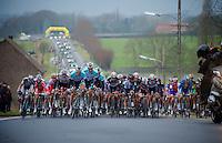 3 Days of West-Flanders, .day 2: Brugge-Kortrijk/Bellegem.approaching peloton..