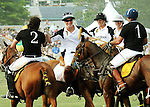 Prince Harry shaking hands and congratulating the winning team at the 3rd Annual Veuve Clicquot Polo Classic on Governors Island on June 27, 2010.