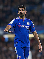 Diego Costa of Chelsea during the UEFA Champions League Group G match between Chelsea and Dynamo Kyiv at Stamford Bridge, London, England on 4 November 2015. Photo by Andy Rowland.