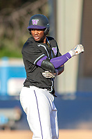 University of Washington Huskies Christian Jones (5) in action against the Cal State Fullerton Titans at Goodwin Field on June 10, 2018 in Fullerton, California. The Huskies defeated the Titans 6-5. (Donn Parris/Four Seam Images)