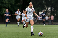 NEWTON, MA - AUGUST 29: Ella Richards #22 of Boston College brings the ball forward during a game between University of Connecticut and Boston College at Newton Campus Soccer Field on August 29, 2021 in Newton, Massachusetts.