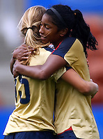 Kate Bennett and Lexi Harris celebrate their win..FIFA U17 Women's World Cup, Paraguay v USA, Waikato Stadium, Hamilton, New Zealand, Sunday 2 November 2008. Photo: Renee McKay/PHOTOSPORT