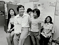 1979 FILE PHOTO - ARCHIVES -<br /> <br /> War - Vietnam War - Refugees in Canada : <br /> Bartender tran: 'It's the future here that counts'<br /> Bezant, Graham<br /> Picture, 1979<br /> <br /> 1979,<br /> <br /> PHOTO : Graham Bezant - Toronto Star Archives - AQP