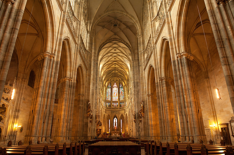St Vitus Cathedral is located inside the grounds of the Prague Castle compound and contains the tombs of many Bohemian Kings and Holy Roman Emperors. This Cathedral was founded on 21 November, 1344 and 600 years later on the Jubilee of St Wenceslas 1929, it was finally completed.