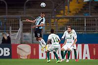 6th October 2021; Arena do Gremio, Porto Alegre, Brazil; Brazilian Serie A, Gremio versus Cuiaba; Diego Souza of Gremio wins the header above Alan Empereur of Cuiaba