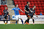 St Johnstone v Kilmarnock...07.11.15  SPFL  McDiarmid Park, Perth<br /> Chris Kane scores to make it 2-1 to saints<br /> Picture by Graeme Hart.<br /> Copyright Perthshire Picture Agency<br /> Tel: 01738 623350  Mobile: 07990 594431