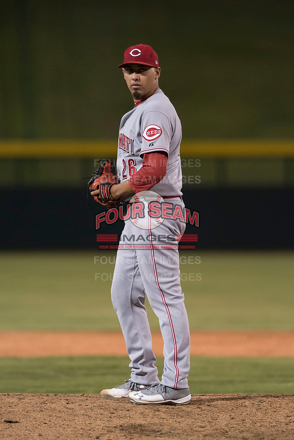 AZL Reds starting pitcher Daniel De La Fuente (26) during an Arizona League game against the AZL Cubs 1 at Sloan Park on July 13, 2018 in Mesa, Arizona. The AZL Cubs 1 defeated the AZL Reds 4-1. (Zachary Lucy/Four Seam Images)